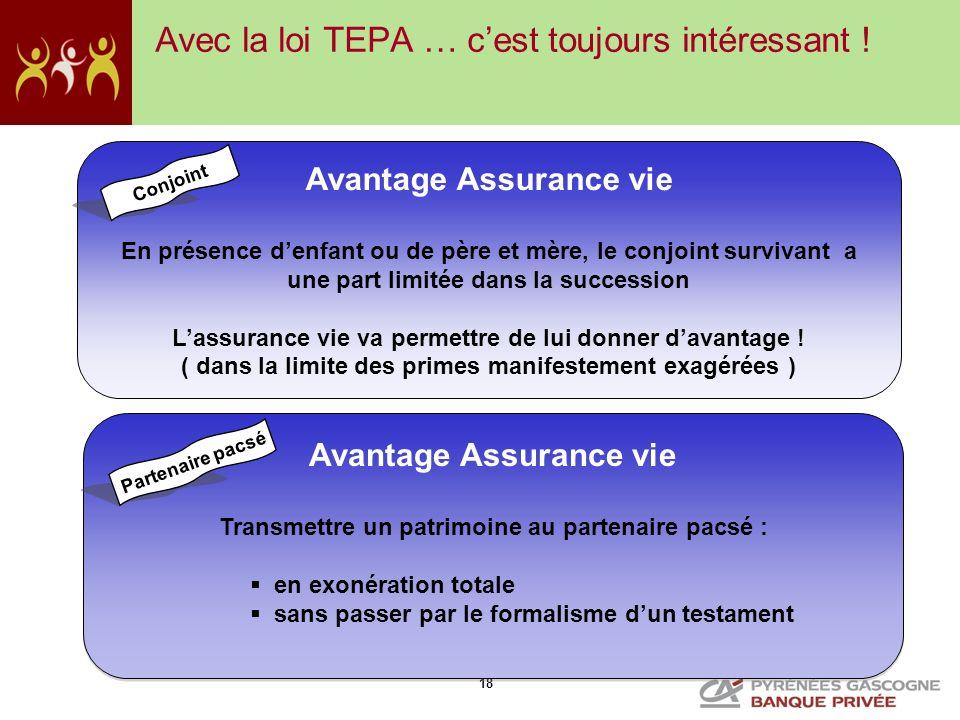Avec la loi TEPA … c'est toujours intéressant !