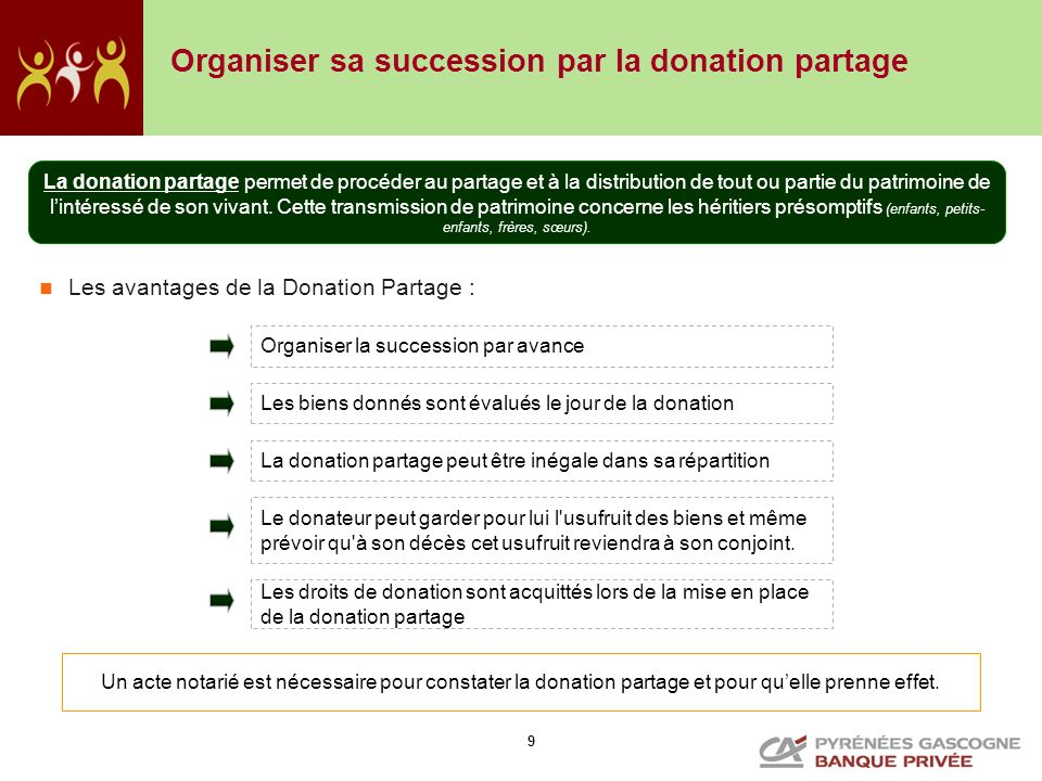 Organiser sa succession par la donation partage
