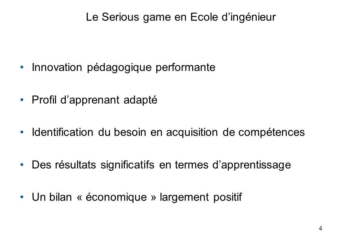 Le Serious game en Ecole d'ingénieur