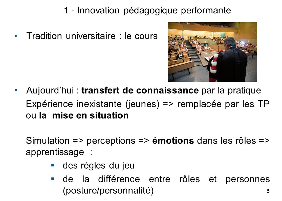 1 - Innovation pédagogique performante