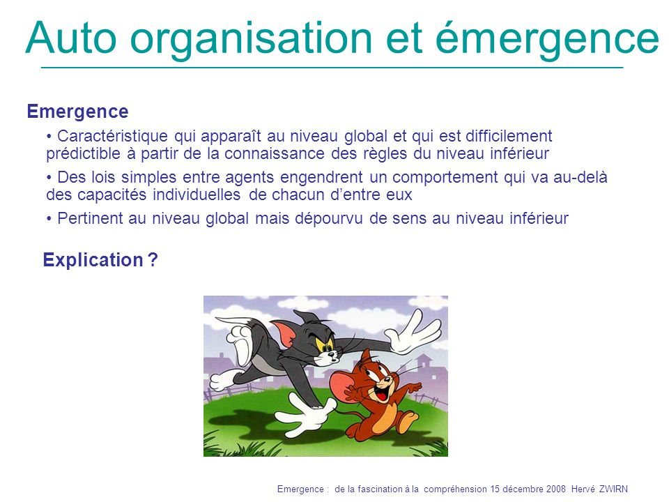 Auto organisation et émergence