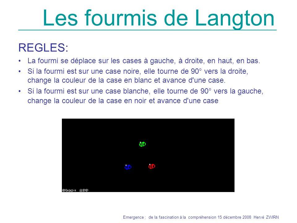 Les fourmis de Langton REGLES: