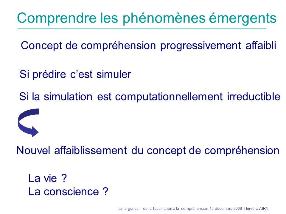 Comprendre les phénomènes émergents