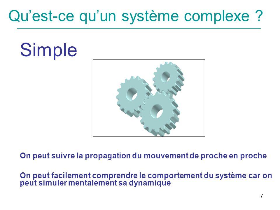 Qu'est-ce qu'un système complexe
