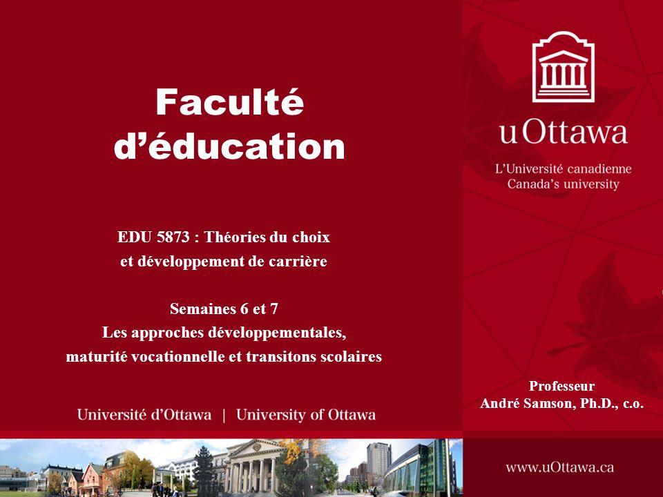 Faculté d'éducation EDU 5873 : Théories du choix