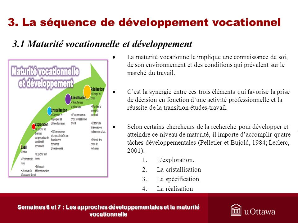 3. La séquence de développement vocationnel