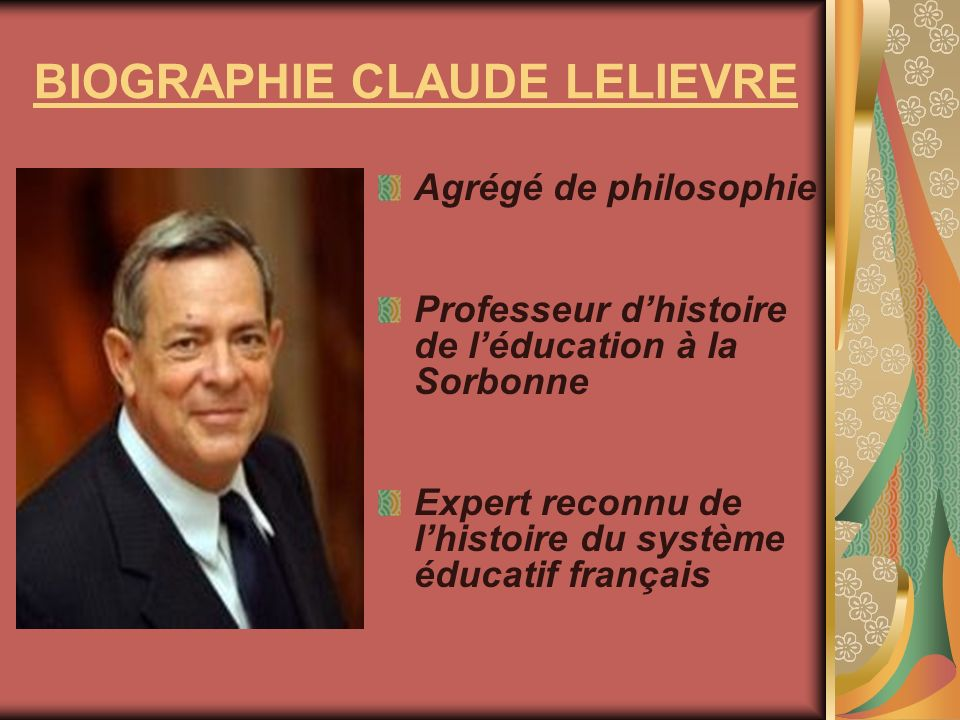 BIOGRAPHIE CLAUDE LELIEVRE