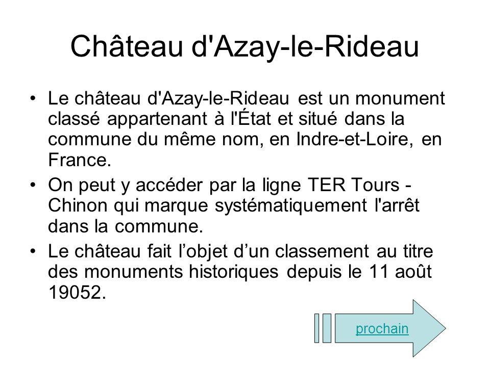 Château d Azay-le-Rideau