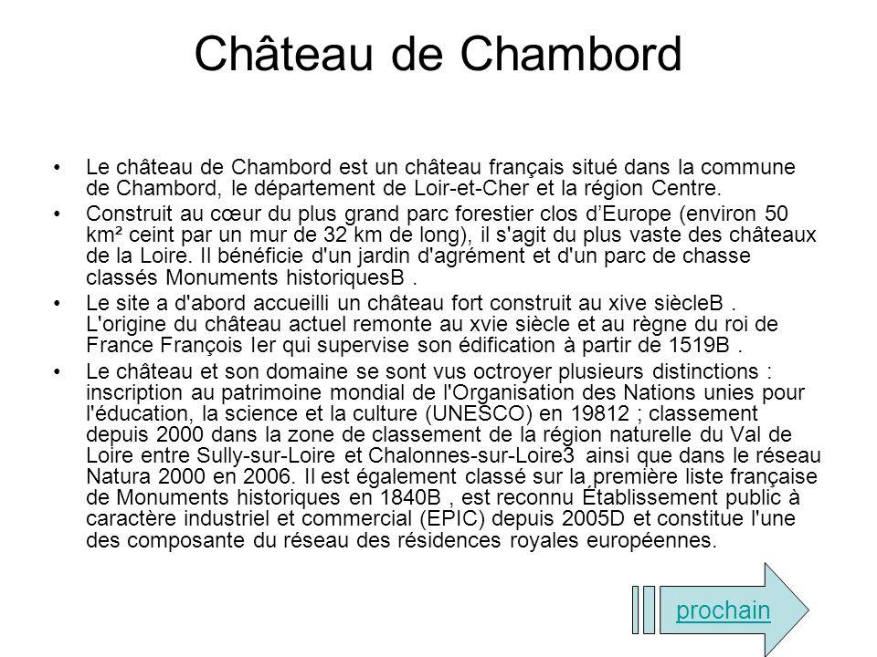 Château de Chambord prochain