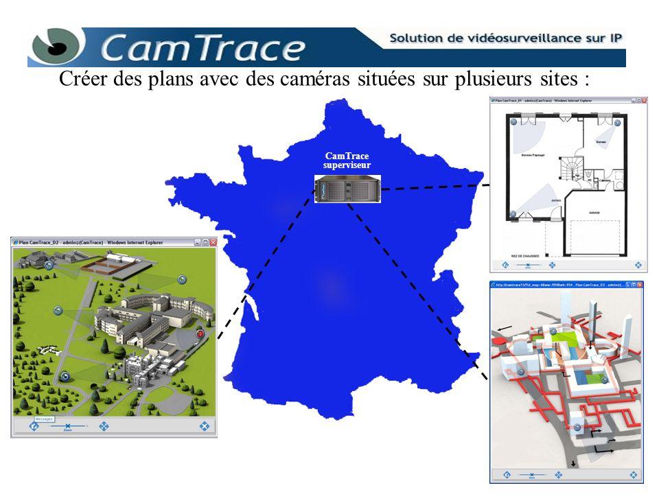 Créer des plans avec des caméras situées sur plusieurs sites :