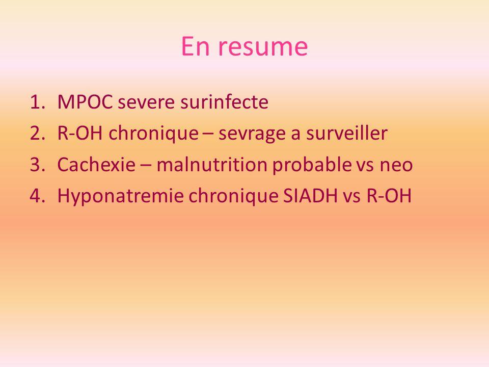 En resume MPOC severe surinfecte R-OH chronique – sevrage a surveiller