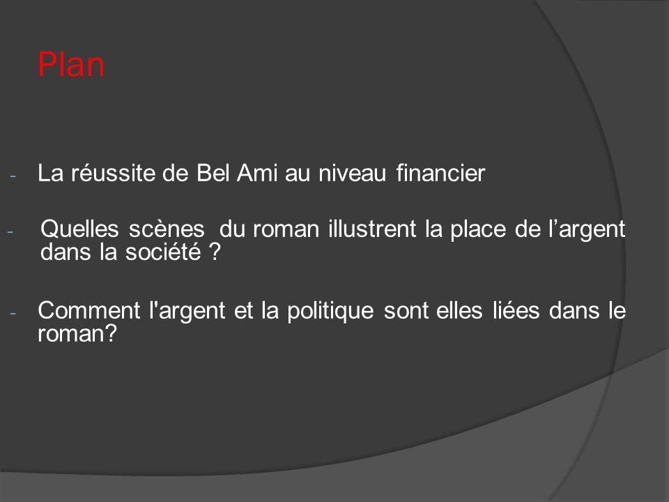 Plan La réussite de Bel Ami au niveau financier