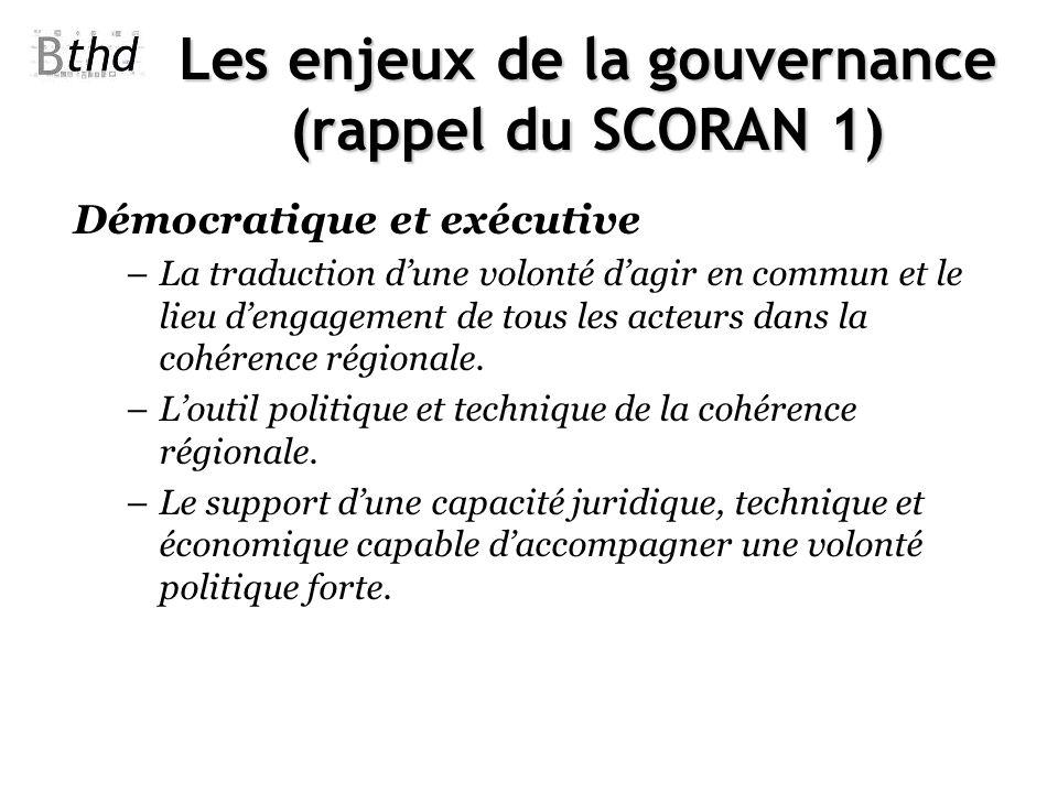 Les enjeux de la gouvernance (rappel du SCORAN 1)