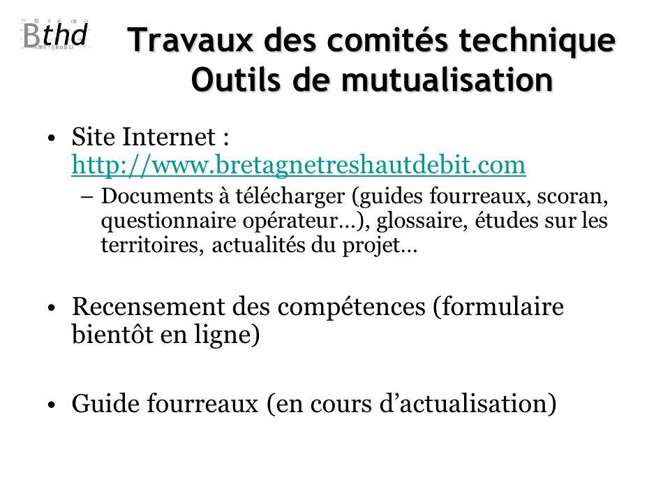 Travaux des comités technique Outils de mutualisation