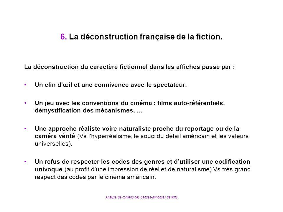 6. La déconstruction française de la fiction.