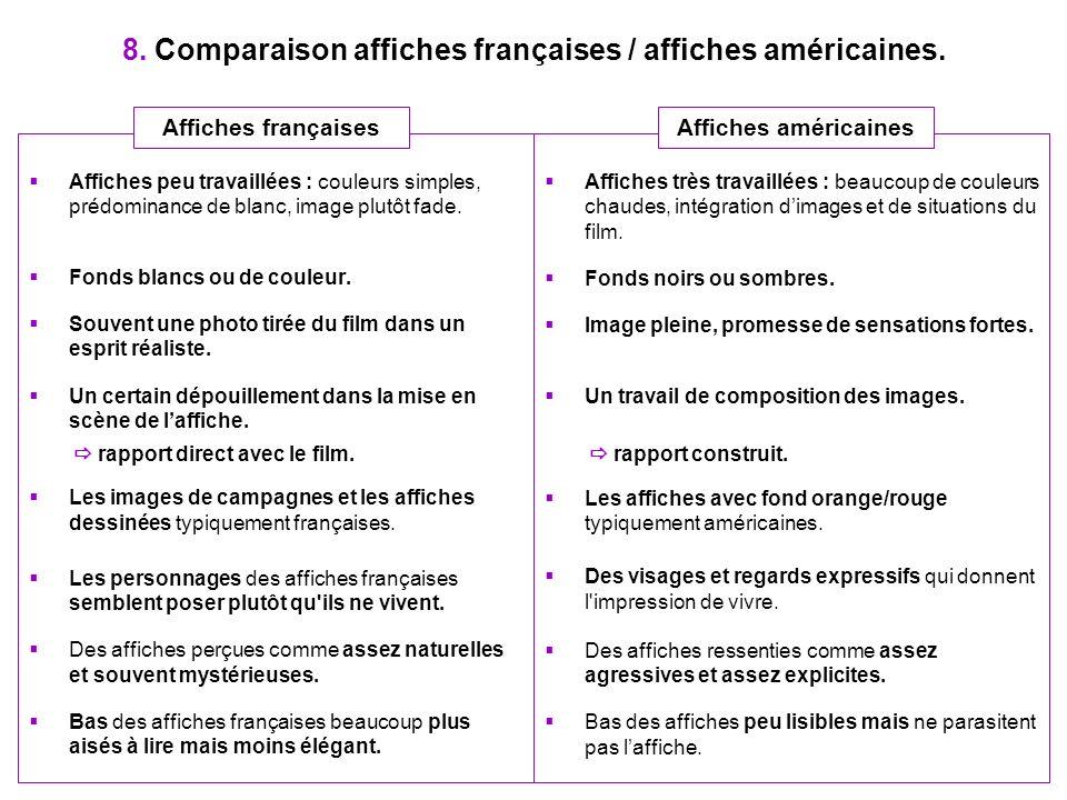8. Comparaison affiches françaises / affiches américaines.