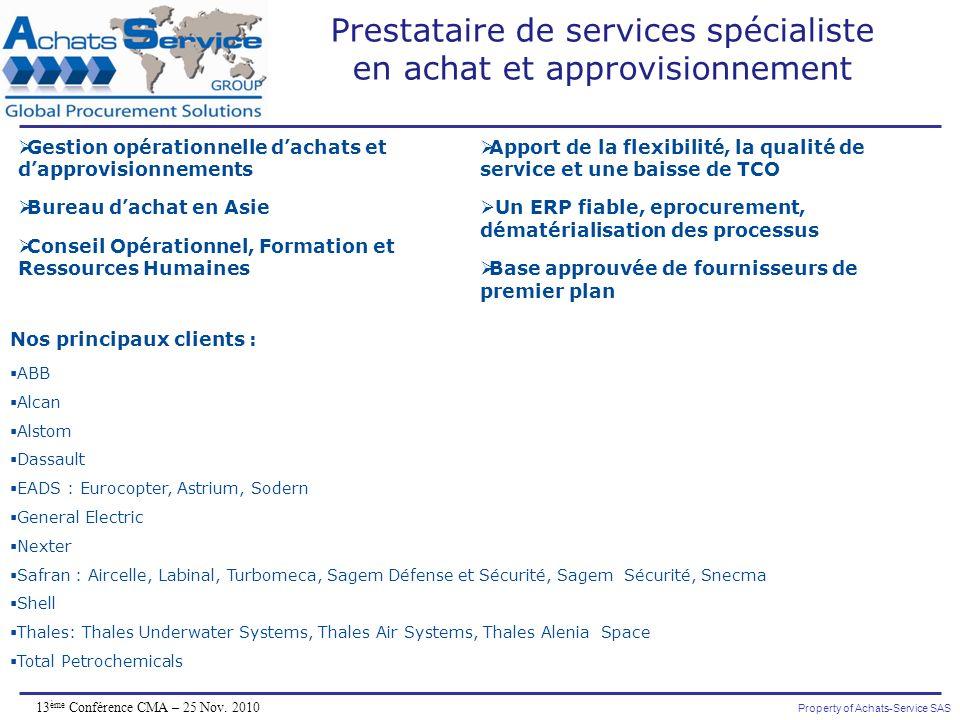 Prestataire de services spécialiste en achat et approvisionnement