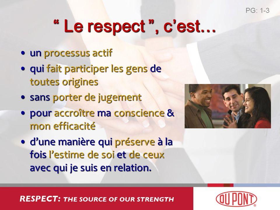 Le respect , c'est… un processus actif