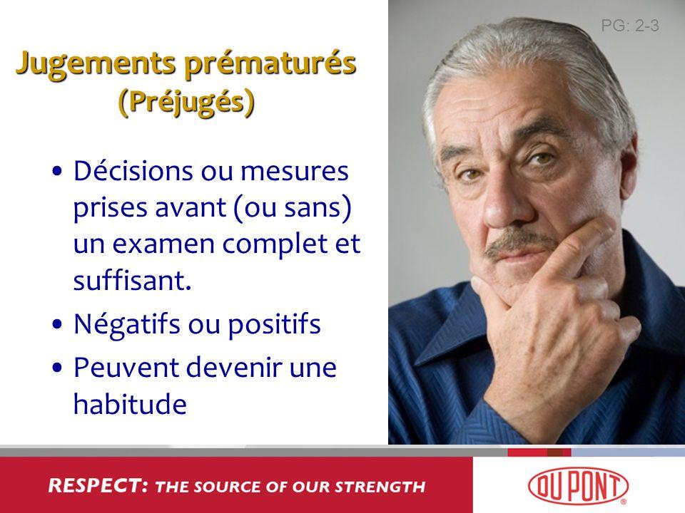 Jugements prématurés (Préjugés)