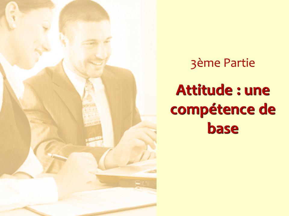 3ème Partie Attitude : une compétence de base