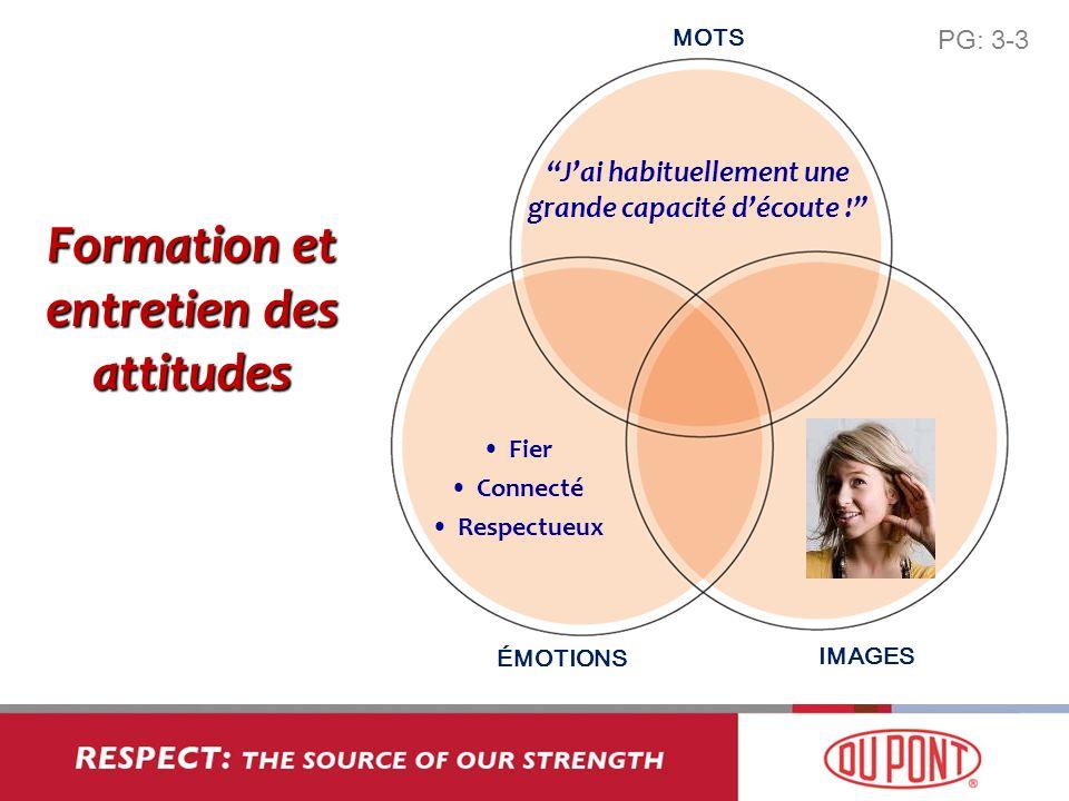 Formation et entretien des attitudes