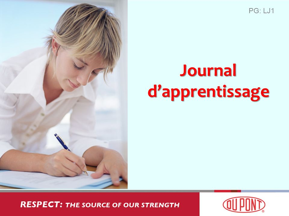 Journal d'apprentissage