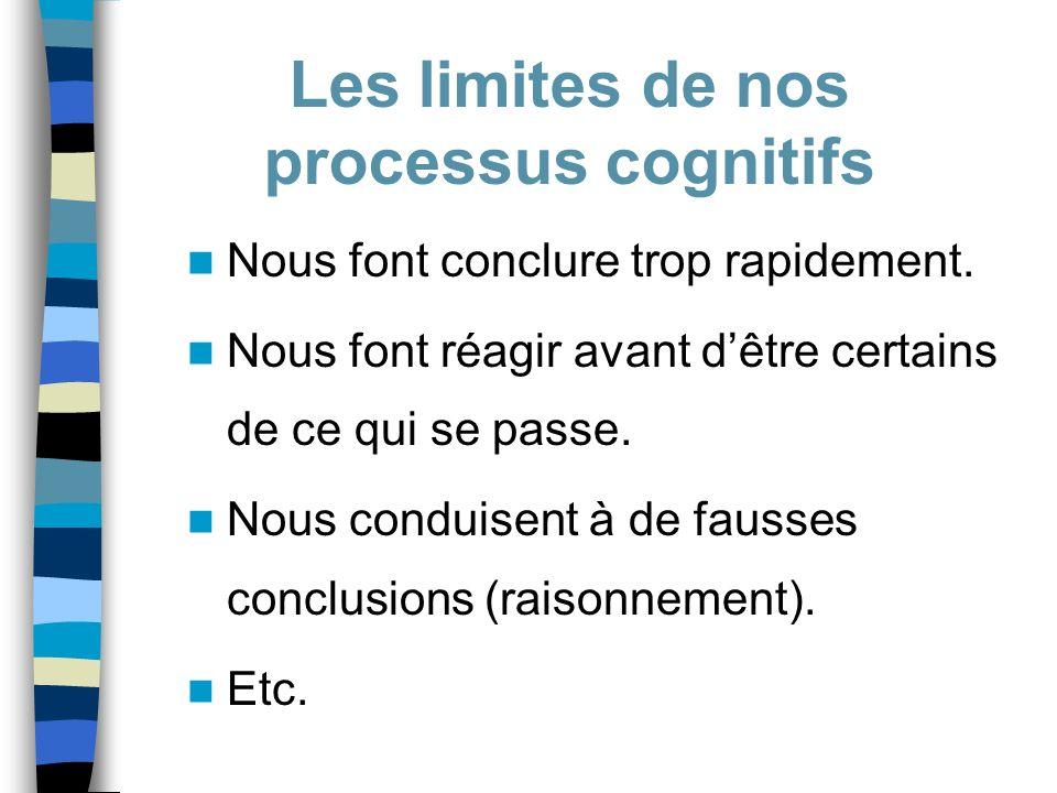 Les limites de nos processus cognitifs