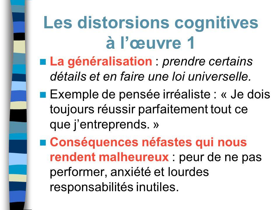Les distorsions cognitives à l'œuvre 1