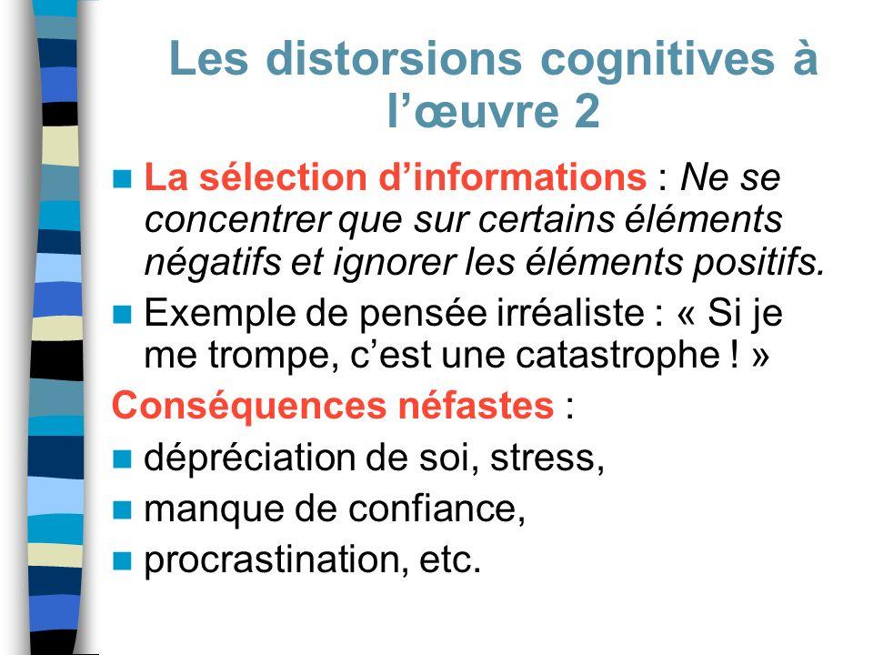 Les distorsions cognitives à l'œuvre 2