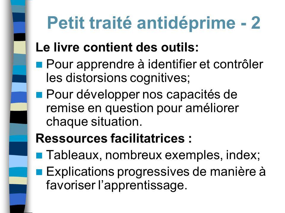 Petit traité antidéprime - 2