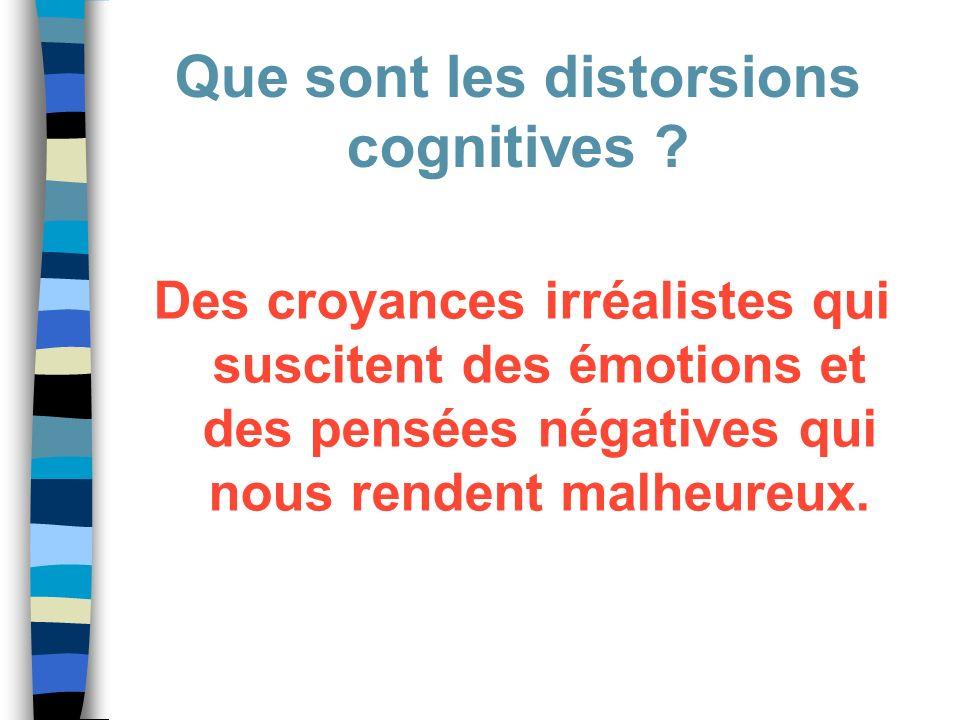 Que sont les distorsions cognitives
