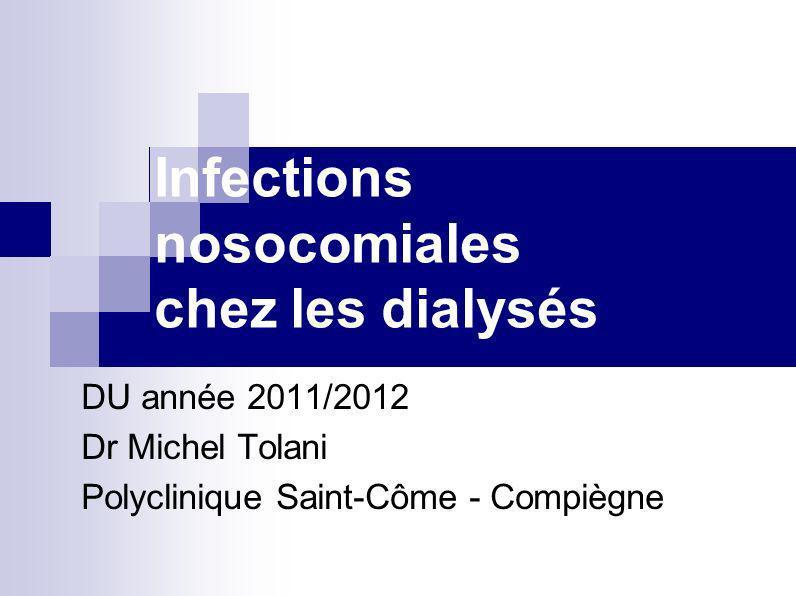 Infections nosocomiales chez les dialysés