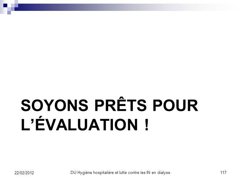 SOYONS PRÊTS POUR L'ÉVALUATION !