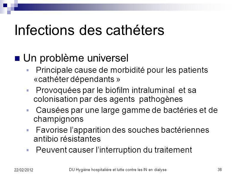 Infections des cathéters