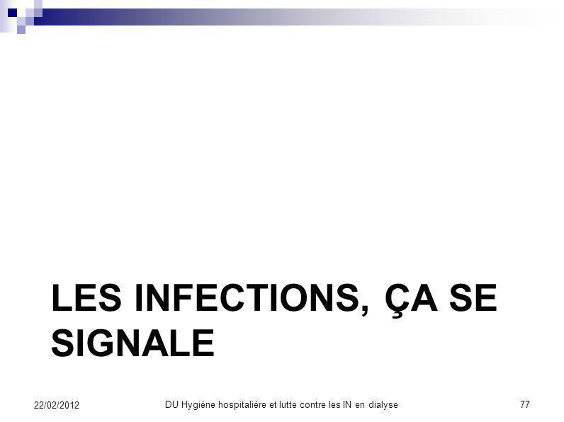 Les infections, ça se signale