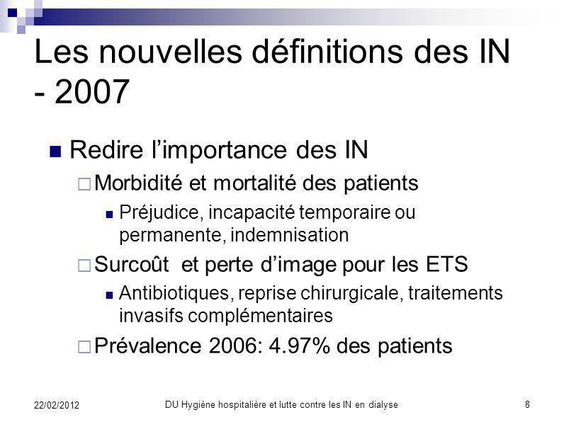 Les nouvelles définitions des IN - 2007