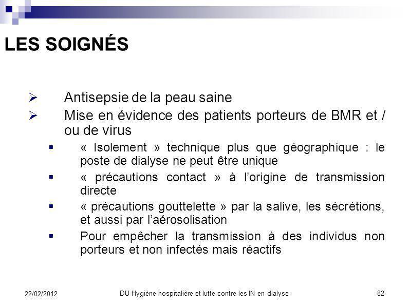 DU Hygiène hospitalière et lutte contre les IN en dialyse