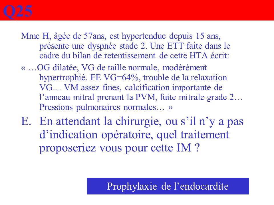 Prophylaxie de l'endocardite