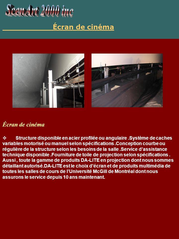 ScenArt 2000 inc Écran de cinéma Écran de cinéma