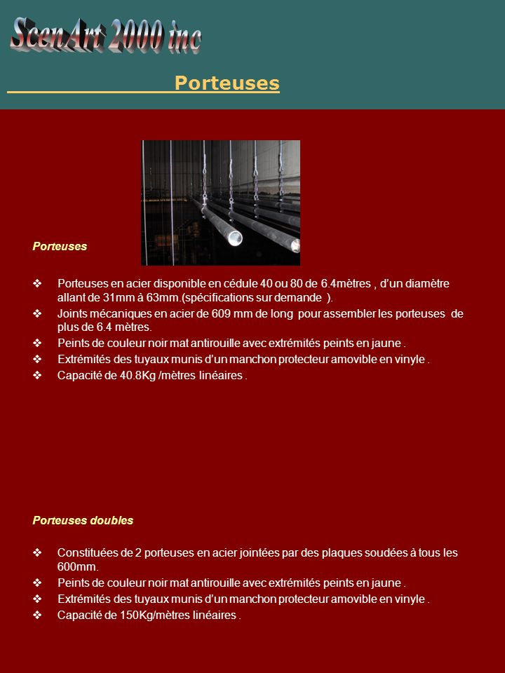 ScenArt 2000 inc Porteuses Porteuses