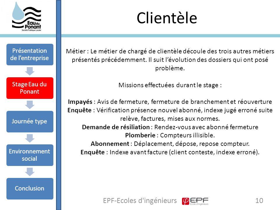 Clientèle EPF-Ecoles d ingénieurs