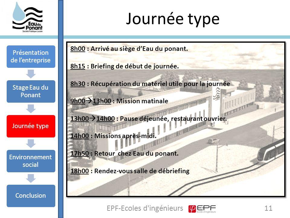 Journée type EPF-Ecoles d ingénieurs