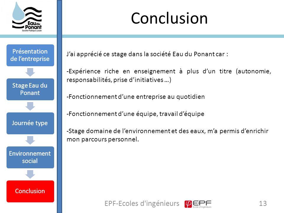 Conclusion EPF-Ecoles d ingénieurs