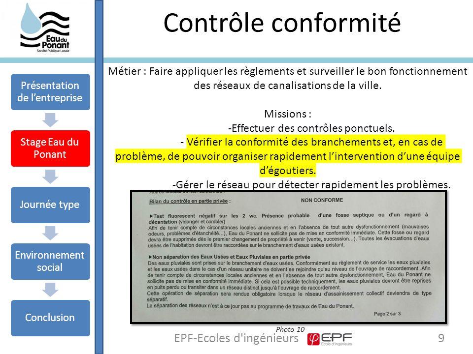 Contrôle conformité EPF-Ecoles d ingénieurs