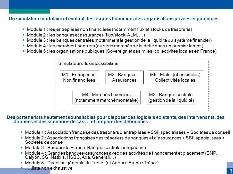 Module 2 : les banques et assurances (flux/stock; ALM, …)
