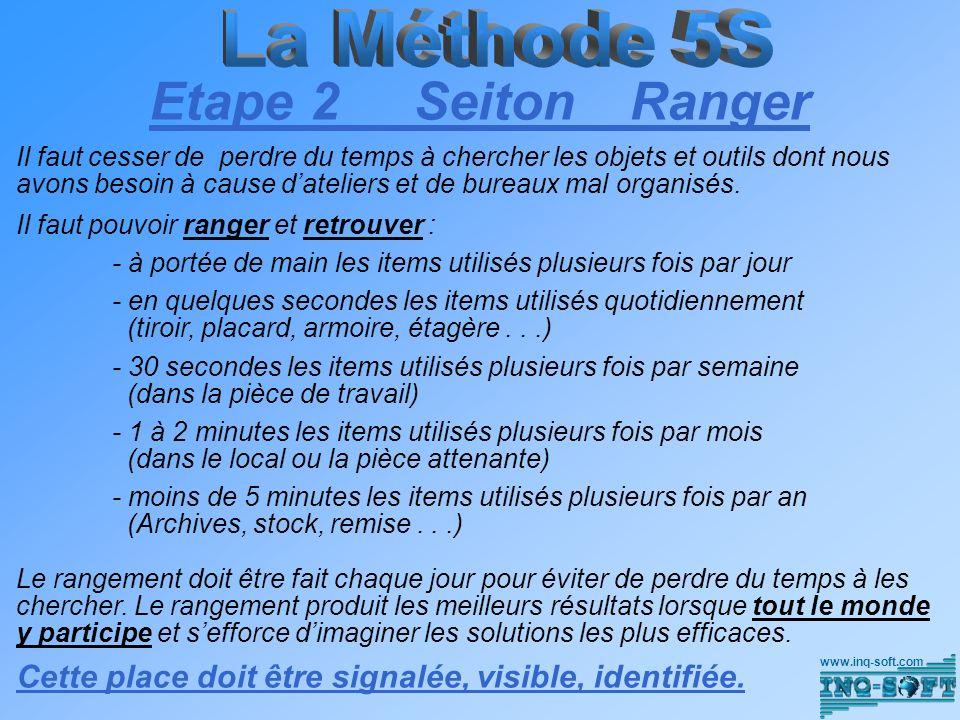 Etape 2 Seiton Ranger La Méthode 5S