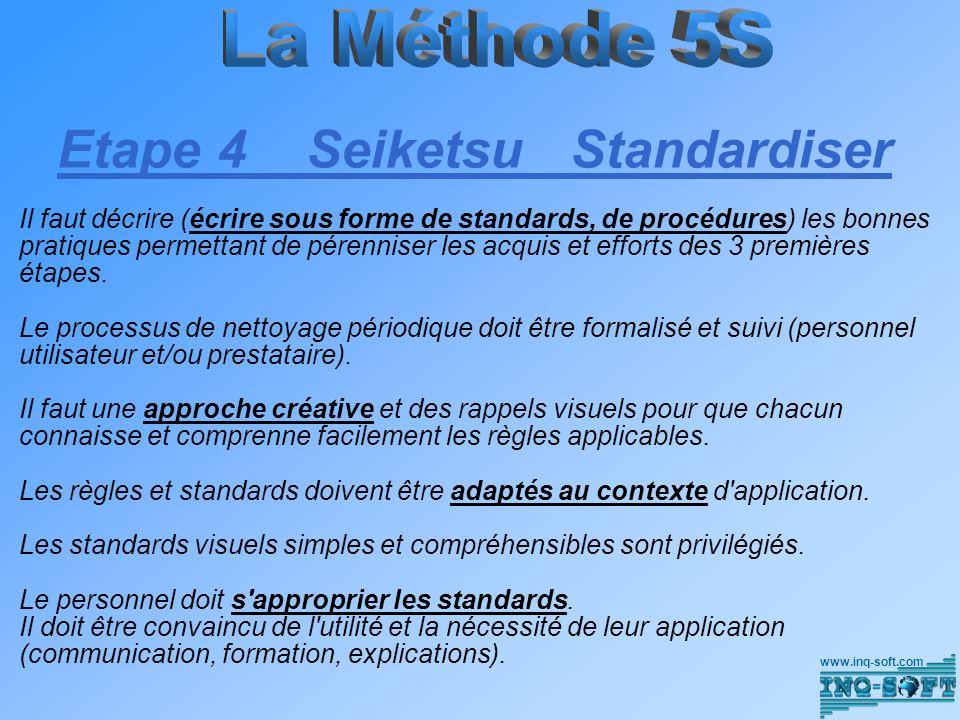 Etape 4 Seiketsu Standardiser