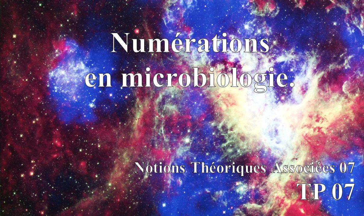 Numérations en microbiologie.