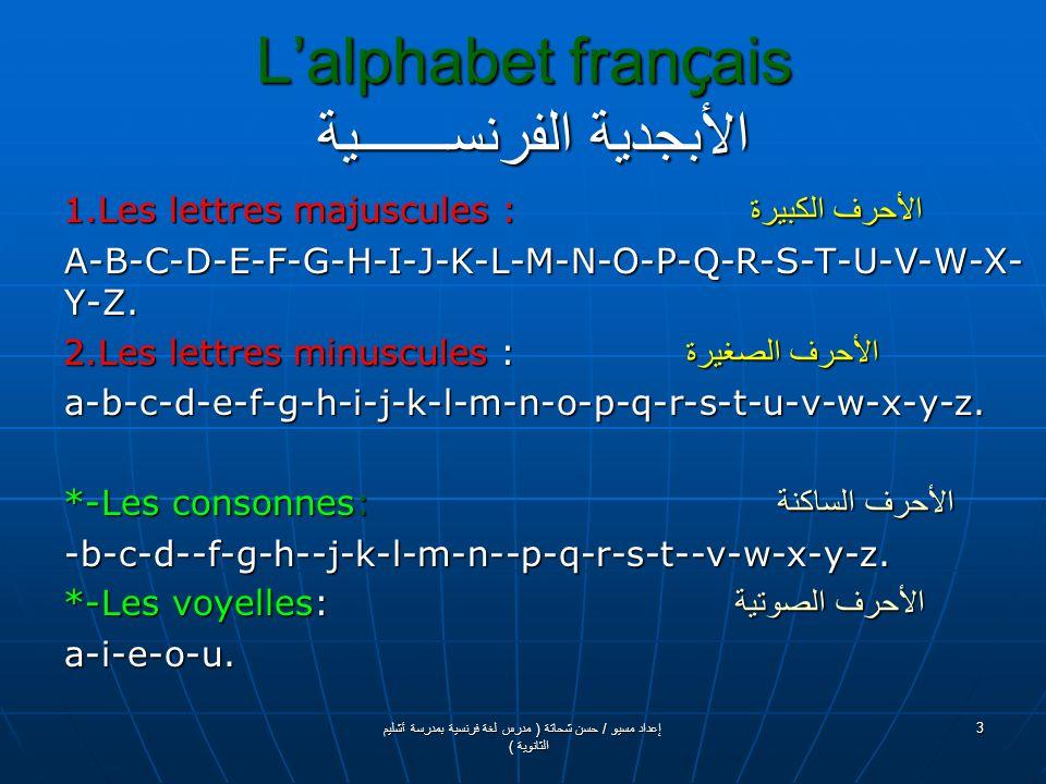 Grammaire De Français قـــــواعـــــــــــد اللغــــة