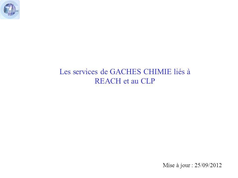 Les services de GACHES CHIMIE liés à REACH et au CLP